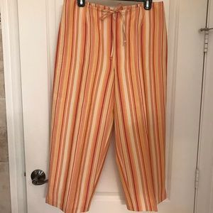 Tommy Bahama silk/linen crop pants